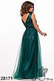 Женское вечернее платье в пол Евросетка на атласном покладе Размер 42 44 46 В наличии 5 цветов, фото 6