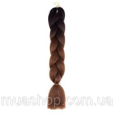Канекалон Омбре (черный/коричневый) 65*130 см