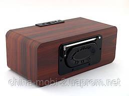 Atlanfa AT-1833bt 12W, портативная колонка с Bluetooth FM и MP3, красное дерево, черная, фото 2
