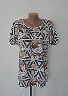 Женская футболка с цветочным узором! ОПТОМ!, фото 1