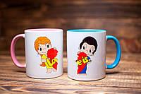 """Чашки """"Love is. Любовь это..."""". Парные чашки."""