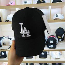 Бейсболка кепка LA мужская/женская черная (реплика) Сap LA Black