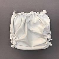 Трусики белые на подгузник для девочки р 80