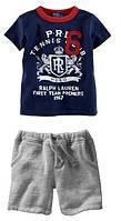 Детский летний костюм  шорты и футболка на мальчика  Ralph Lauren  на рост 95 110 115 120