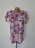 Яркая женская футболка с цветочным узором! ОПТОМ!, фото 1
