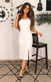 Сарафан бисер белый Viravi Wear, модель 1006