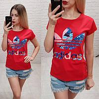 Женская футболка Adidas  р.42-46, фото 1