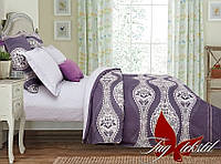 Комплект постельного белья Семейный, сатин TAG S289