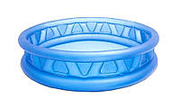Бассейн надувной круглый синий Intex 58431
