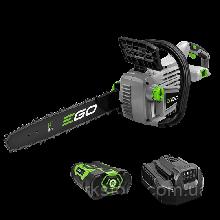 Аккумуляторная цепная пила EGO Power +  CS1401, 56 Вольт, 35 см , с 2 Ач. аккумулятором и зарядным устройством