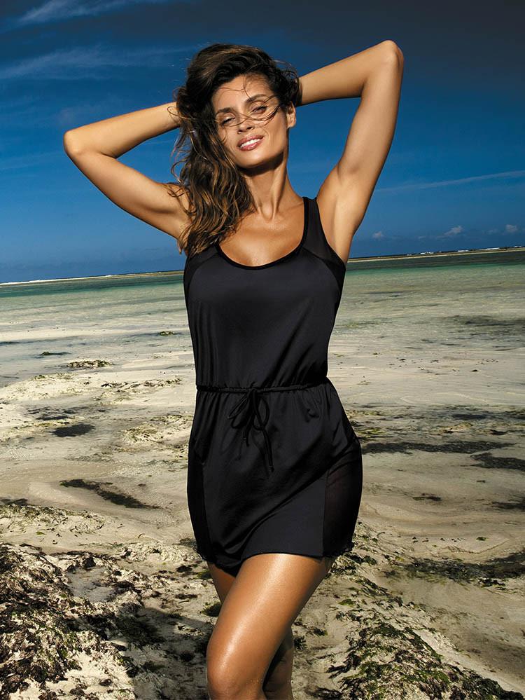 Красивая черная туника-платье Marko M 388 (1) ALICE