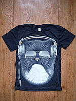 Стильная подростковая футболка для мальчика 134-140 см, светиться в темноте
