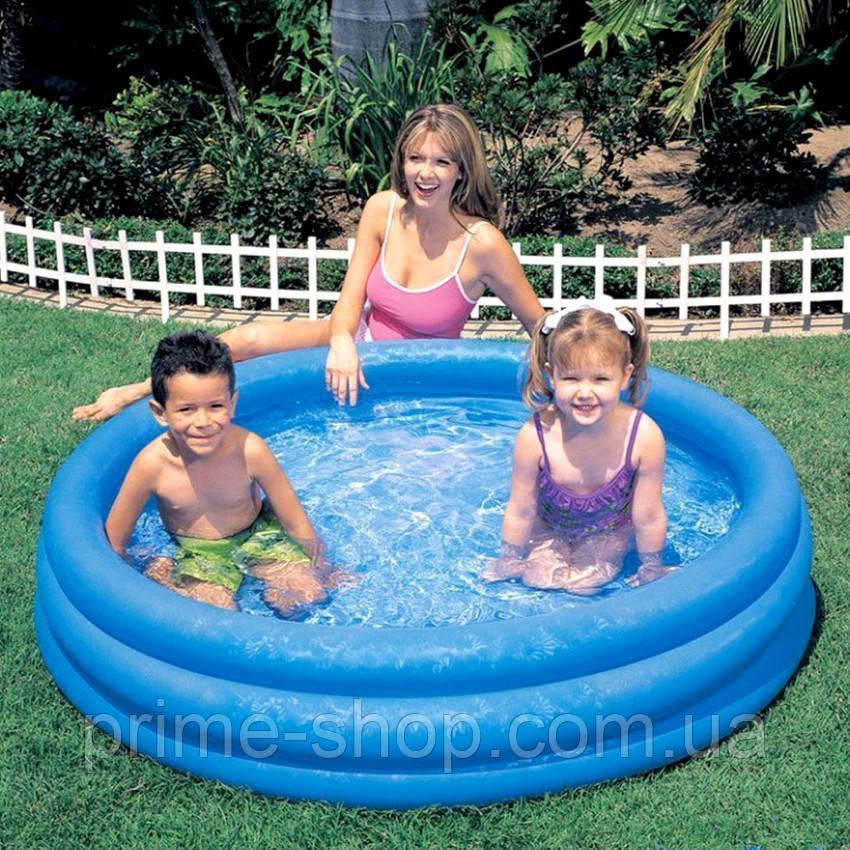Надувной детский бассейн Кристальный Intex 58426