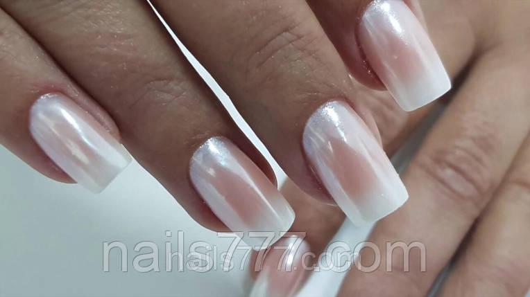 Втирка жемчужная для дизайна ногтей Белая в баночке, фото 2