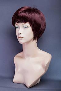 Короткий парик №18. Цвет баклажанов