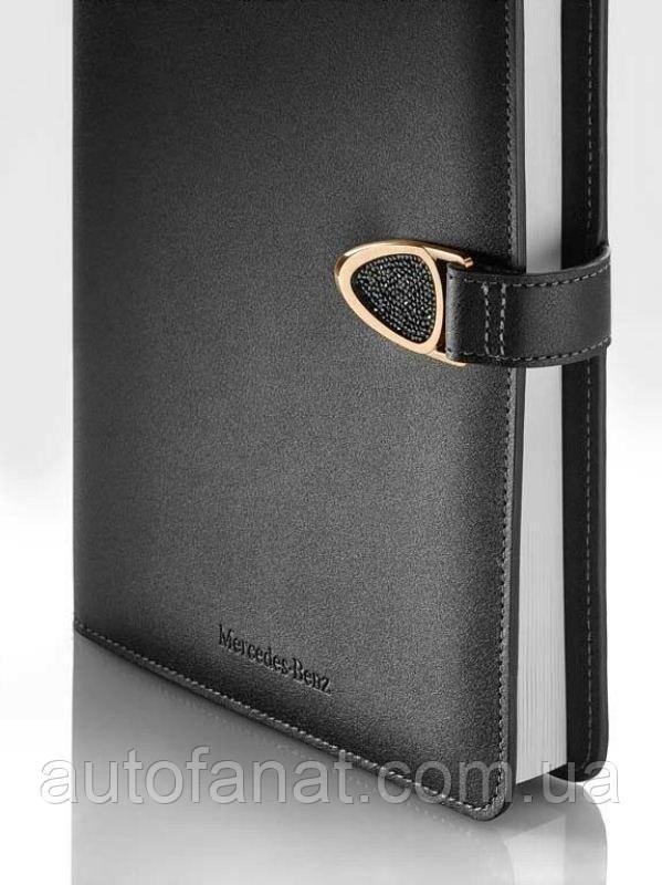 Оригинальная записная книжка Mercedes-Benz Notebook, Crystal, Black / Pink gold, Swarovski (B66953602)