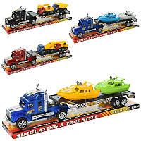 Трейлер 0807-17-18 інерційний, транспорт, 2 види (човен 2 шт./будтехніка 2 шт.), в блістері, 42-11-8,5 см