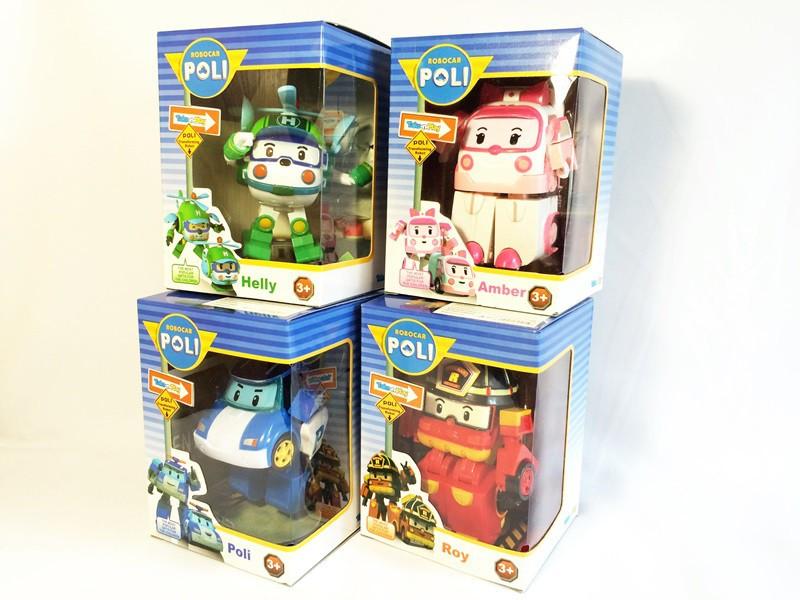 Трансформер Robocar Poli, робот машинка, 4 види, коробці, 14-10-10 см