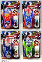 Мыльные пузыри пистолет JT713 The Avengers батар.4цв. планш.22*6*15см /144/(JT713 The Avengers)