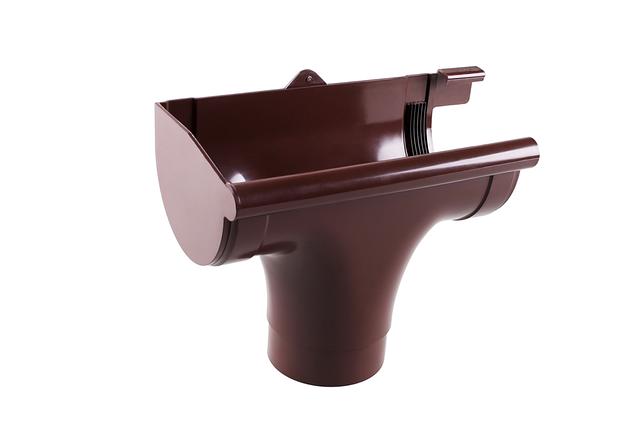 Водосточные системы. Ливнеприемник левый 90/75 мм.