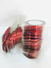 Лента для дизайна ногтей в рулоне 1 mm., упаковка 10 шт., фото 3