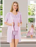 Женская пижама шорты с майкой и халат