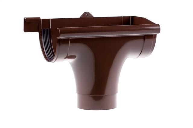 Водосточные системы. Ливнеприемник правый 90 / 75 мм.