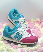 Голубые яркие кроссовки в стиле New balance