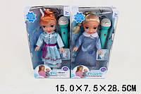 "Кукла ""Frozen"", 2 вида, муз. микрофон, в кор.15*7,5*28,5см (120шт/2)(T280A)"