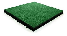 Резиновая плитка зеленого цвета 25мм