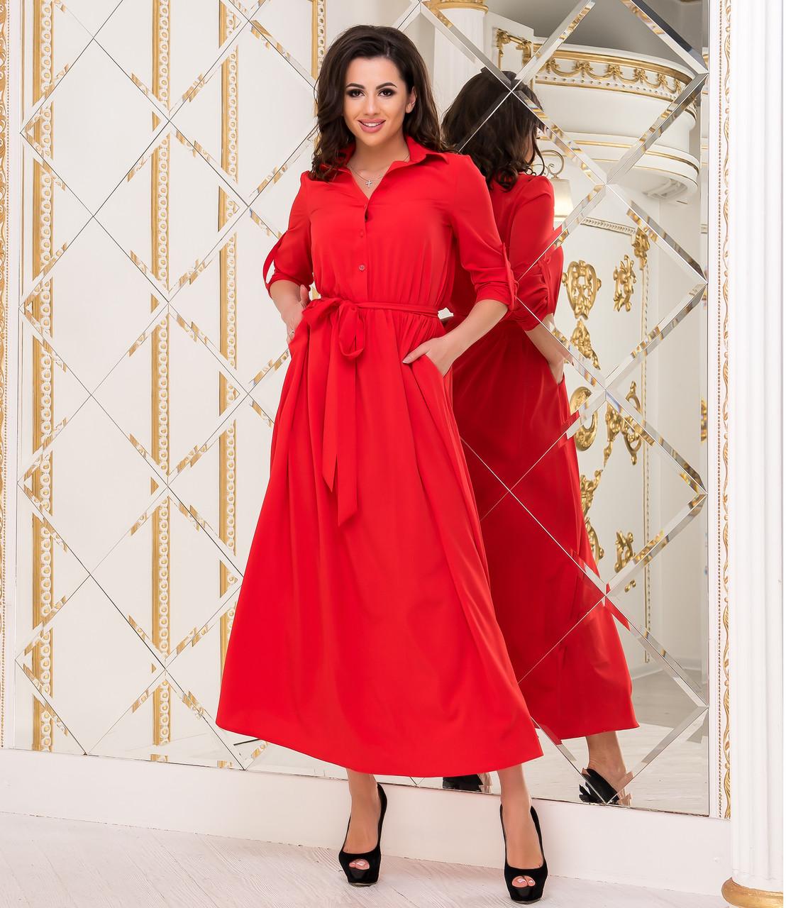 Платье красное, арт.1020