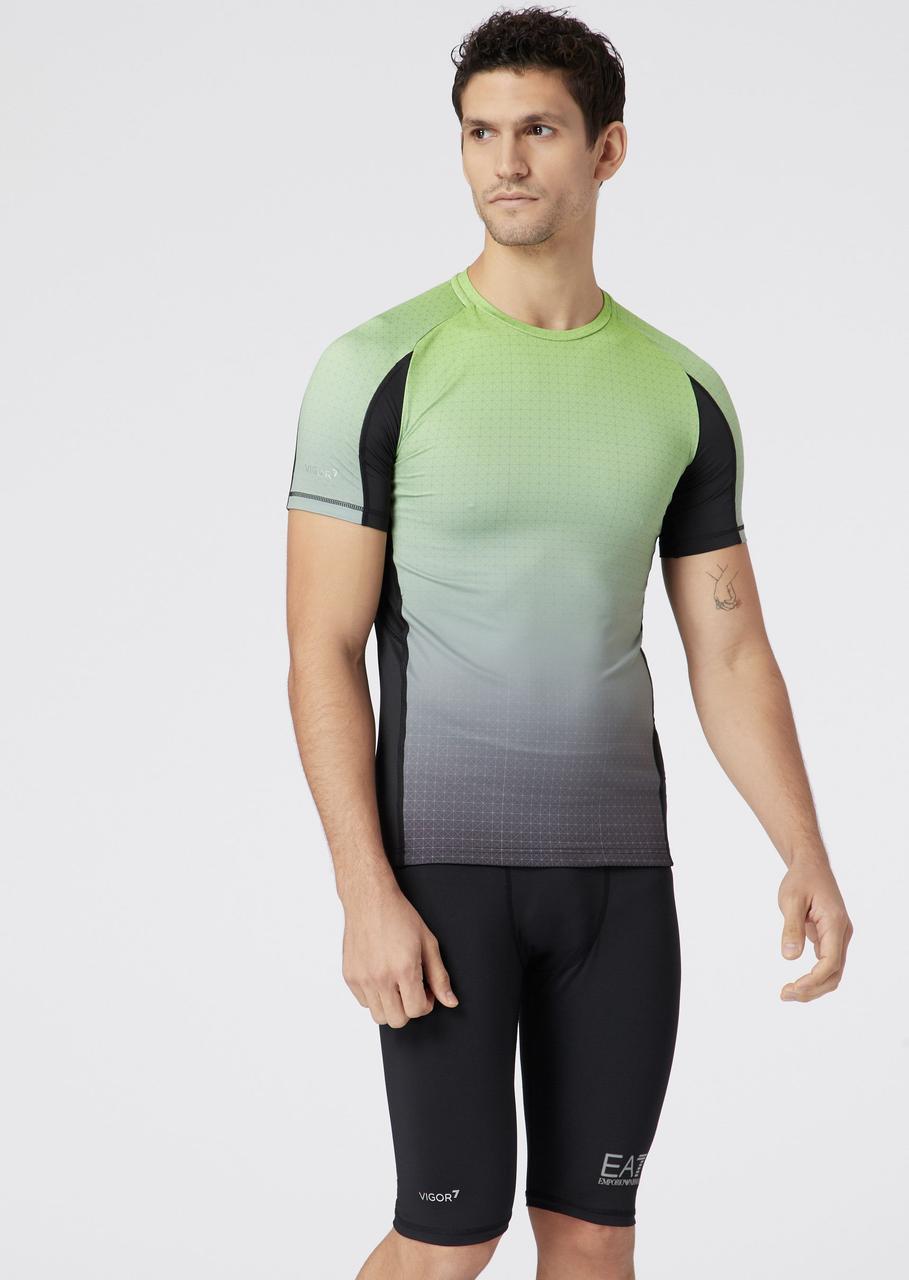 Футболка Emporio Armani EA7 Graphic T-shirt in Vigor7 tech fabric оригинал