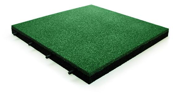 Резиновая плитка зеленого цвета 15мм