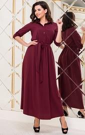 Платье марсала Viravi Wear, модель 1020