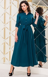 Платье морская волна Viravi Wear, модель 1020