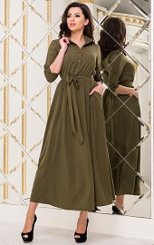 Платье хаки Viravi Wear, модель 1020
