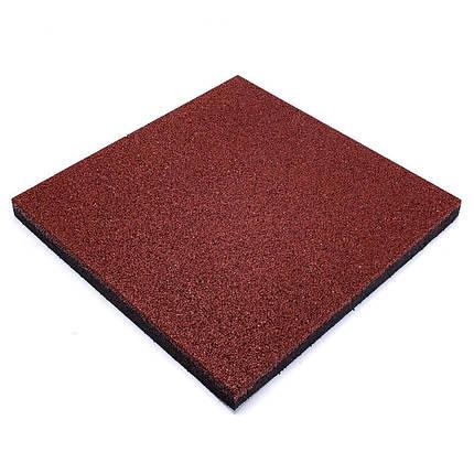 Резиновая плитка Красного цвета 40мм, фото 2