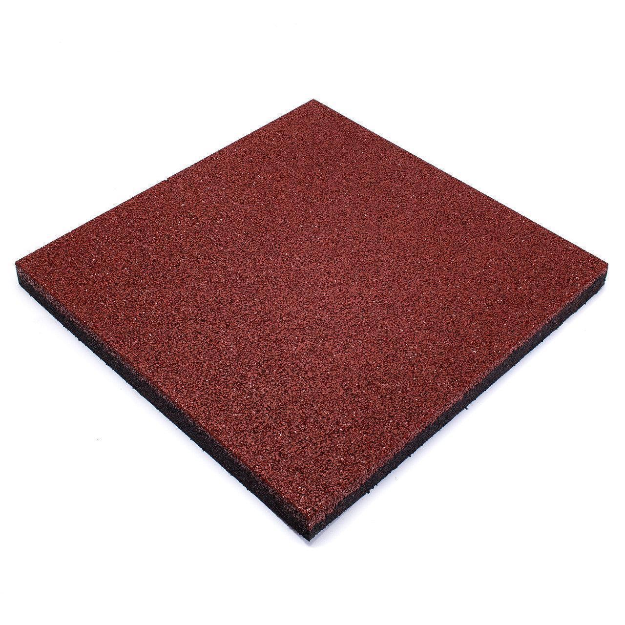Резиновая плитка Красного цвета 50мм