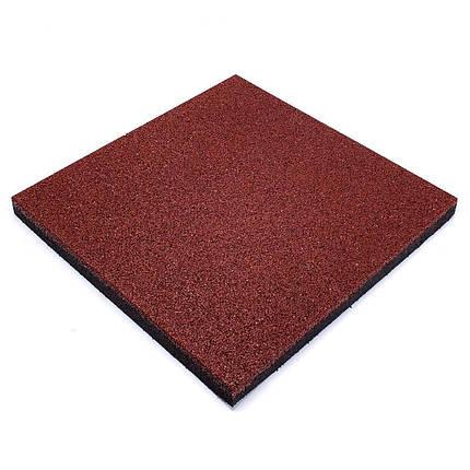 Резиновая плитка Красного цвета 50мм, фото 2