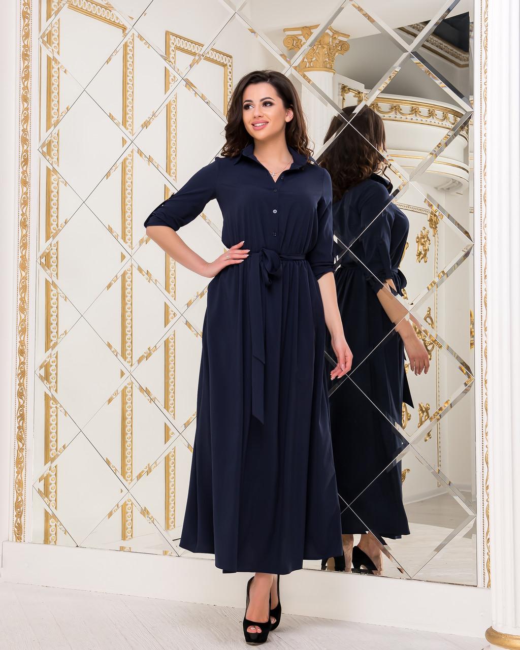 Платье темно-синее, арт.1020