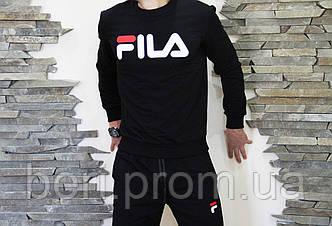 Свитшот мужской Fila (Весна/Осень) | Фила | Чоловічий світшот Філа (Черный)
