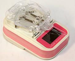 Универсальное зарядное устройство (лягушка, жабка, краб) с LCD дисплеем красный УЦЕНКА