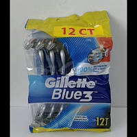 Станок мужской одноразовый Gillette Blue 3 ( Жиллетт блю 3 ) 12 шт.