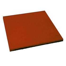 Резиновая плитка Тарракотового цвета 30мм