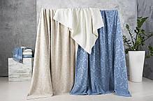 Простынь махровая Жаккард джинс ТМ Идея 200х220 см, фото 2