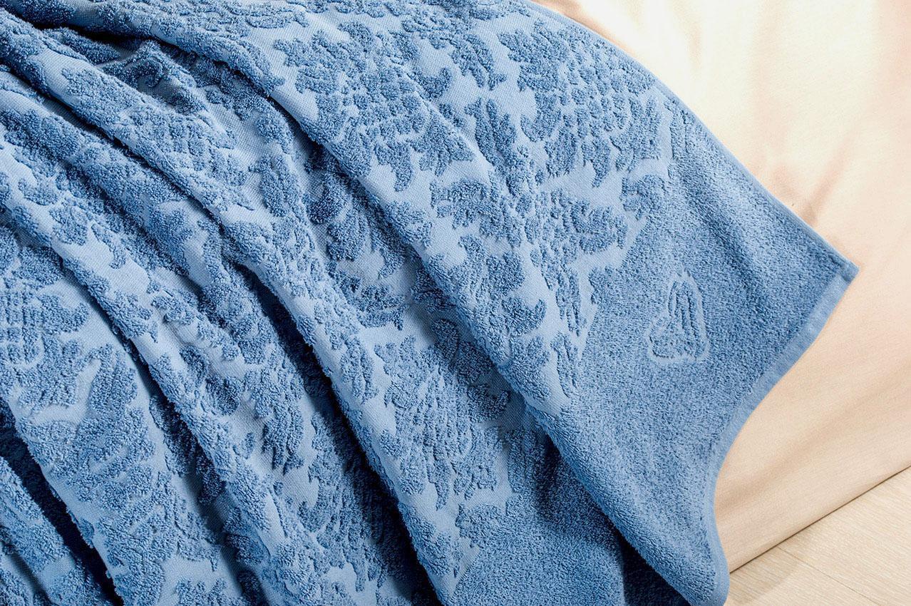 Простынь махровая Жаккард джинс ТМ Идея 200х220 см
