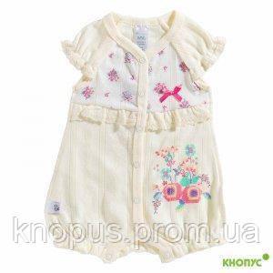 """Песочник для новорожденной девочки """"Машенька"""" (кремовый), Smil, размер 56"""