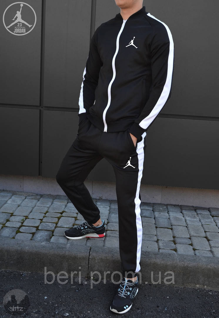 ТОП! JORDAN |Мужской спортивный костюм, Олимпийка, Штаны | Джордан | Костюм Спортивний Nike Jordan (Черный)