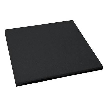 Резиновая плитка Черного цвета 15мм, фото 2