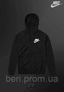 Мужская ветровка Nike Windrunner | куртка Виндранер | Чоловіча вітрівка Найк Віндранер (Черный)